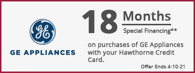 1* Months Special Financing GE Appliances